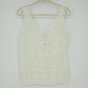 NWT Miguelina Odette Sleeveless Mesh Lace Top